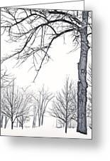 Foggy Morning Landscape - Fractalius 6 Greeting Card by Steve Ohlsen