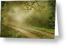 Foggy Road Photo Greeting Card by Boon Mee