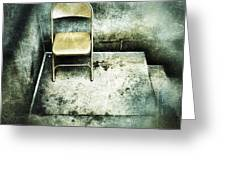 Folding Chair On Stoop Greeting Card by Amy Cicconi
