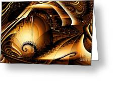 Folds In Time Greeting Card by Peter R Nicholls