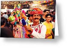Folk Dancer Greeting Card by Money Sharma