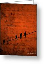 Follow The Music Greeting Card by Andrea Kollo
