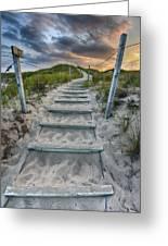 Follow The Path Greeting Card by Sebastian Musial