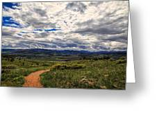 Follow The Path Greeting Card by Tony Boyajian