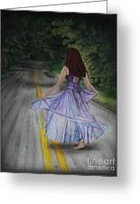 Follow Your Path Greeting Card by Jackie Mestrom
