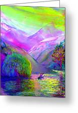 Following The Flow Greeting Card by Jane Small