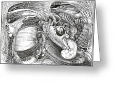 Fomorii Aliens Greeting Card by Otto Rapp