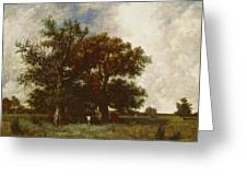 Fontainebleau Oak Greeting Card by Jules Dupre