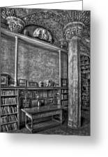 Fonthill Castle Library Greeting Card by Susan Candelario