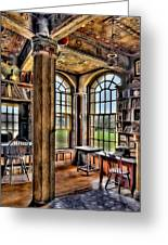 Fonthill Castle Office Greeting Card by Susan Candelario