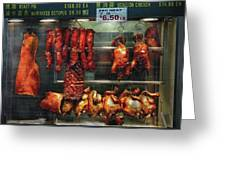 Food - Roast Meat For Sale Greeting Card by Mike Savad