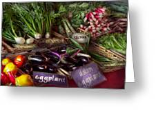 Food - Vegetables - Very Fresh Produce  Greeting Card by Mike Savad