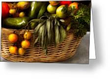 Food - Veggie - Sage Advice  Greeting Card by Mike Savad