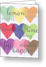 Foodie Love Greeting Card by Linda Woods
