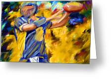 Football I Greeting Card by Lourry Legarde