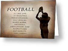 Football Greeting Card by Lori Deiter