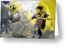 Football Player Greeting Card by Catf