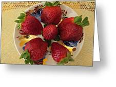 For Dessert II Greeting Card by Zina Stromberg