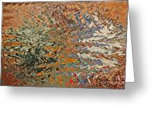 Forces Of Nature - Abstract Art Greeting Card by Carol Groenen