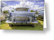 Ford Consul 1960s Retro Greeting Card by David Dwight