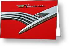 Ford Crown Victoria Emblem Greeting Card by Jill Reger