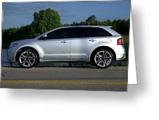 Ford Edge Sport Greeting Card by Rob Andrus