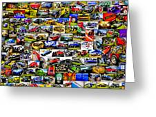 Ford Hot Rod Collage Greeting Card by motography aka Phil Clark