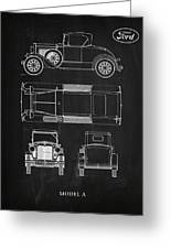 Ford Model A Greeting Card by Mark Rogan