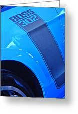 Ford Mustang Boss 302 Emblem Greeting Card by Jill Reger