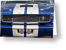 Ford Mustang Grille Emblem Greeting Card by Jill Reger