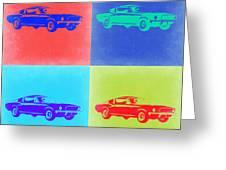 Ford Mustang Pop Art 2 Greeting Card by Naxart Studio