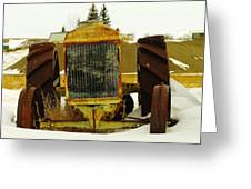 Fordson Tractor Plentywood Montana Greeting Card by Jeff Swan