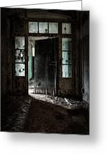 Foreboding Doorway Greeting Card by Gary Heller