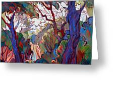 Forest Deep Greeting Card by Erin Hanson