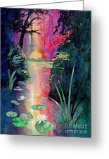Forest Pond Greeting Card by Robert Hooper