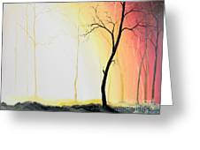 Forest Sunset Greeting Card by Denisa Laura Doltu