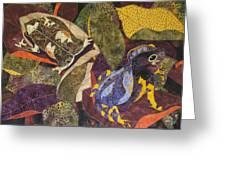 Forest Toads Greeting Card by Lynda K Boardman