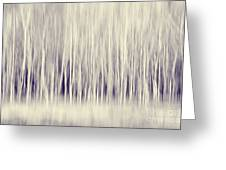 Forest Trees Abstract In Blue Ginger Greeting Card by Natalie Kinnear