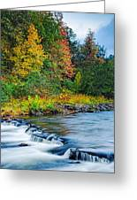 Foretelling Of A Storm Beaver's Bend Broken Bow Fall Foliage Greeting Card by Silvio Ligutti