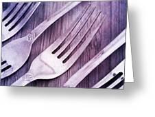 Forks Greeting Card by Priska Wettstein
