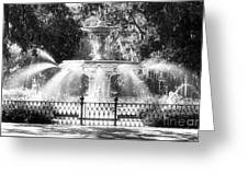 Forsyth Park Fountain Greeting Card by John Rizzuto