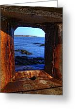 Fort Constitution Greeting Card by Joann Vitali