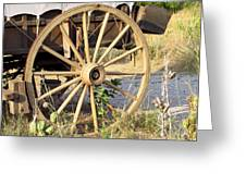 Fort Laramie WY - Moving west on wagon wheels Greeting Card by Christine Till