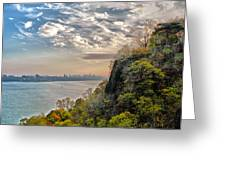 Fort Lee View Greeting Card by Jeff Stein