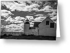 Fort Point Lighthouse Greeting Card by Robert Clifford
