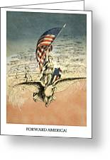 Forward America Greeting Card by Aged Pixel