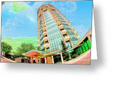Founder's Tower In Oklahoma City Greeting Card by Liane Wright