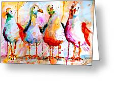 Four In A Row Greeting Card by Steven Ponsford