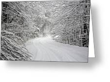 Four Wheel Winter Greeting Card by John Haldane
