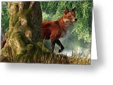 Fox In A Forest Greeting Card by Daniel Eskridge
